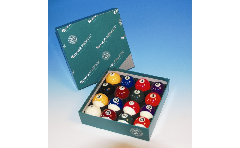 SET OF BALLS POOL ARAMITH PREMIUM 57,2MM